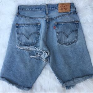 Vintage distressed 501 Levi's shorts